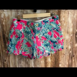 """Lilly Pulitzer 5"""" Buttercup shorts size 6"""
